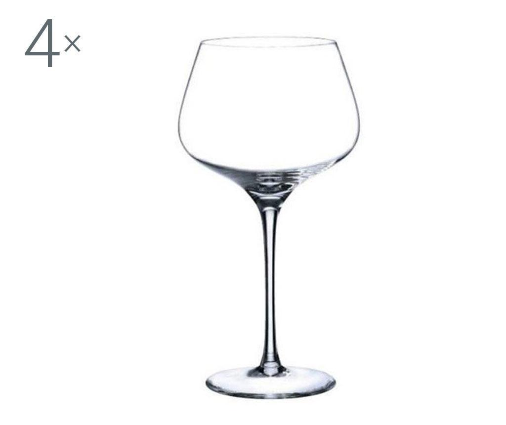Set 4 pahare pentru vin Rona Charisma Crystalite 720 ml imagine
