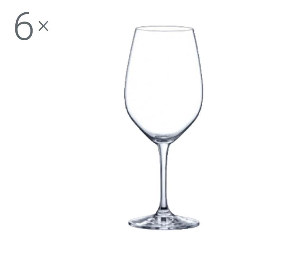 Set 6 pahare pentru vin Rona Yarra Crystalite 530 ml imagine