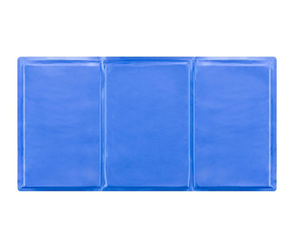 Saltea racoritoare pentru animale de companie Daxten 50x90 cm - InnovaGoods, Albastru poza