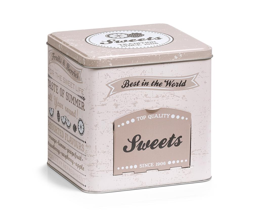 Recipient cu capac pentru dulciuri Best - Zeller, Crem