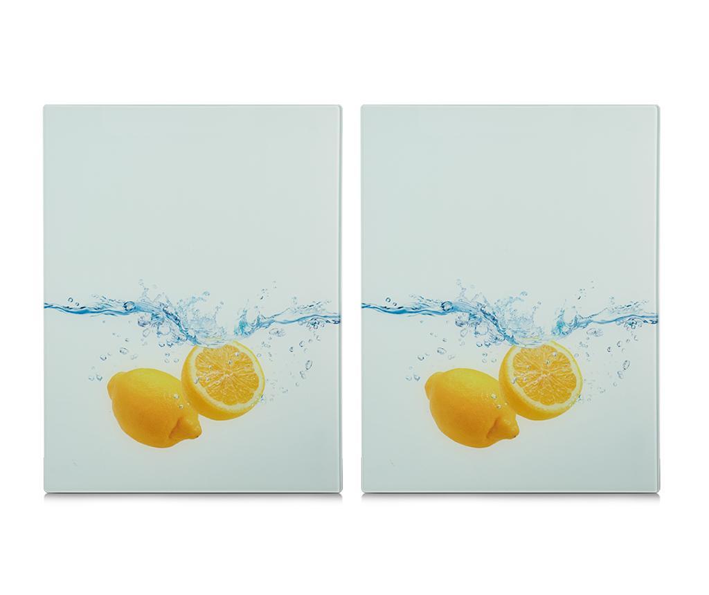 Set 2 planse protectoare pentru plita Lemon Splash imagine