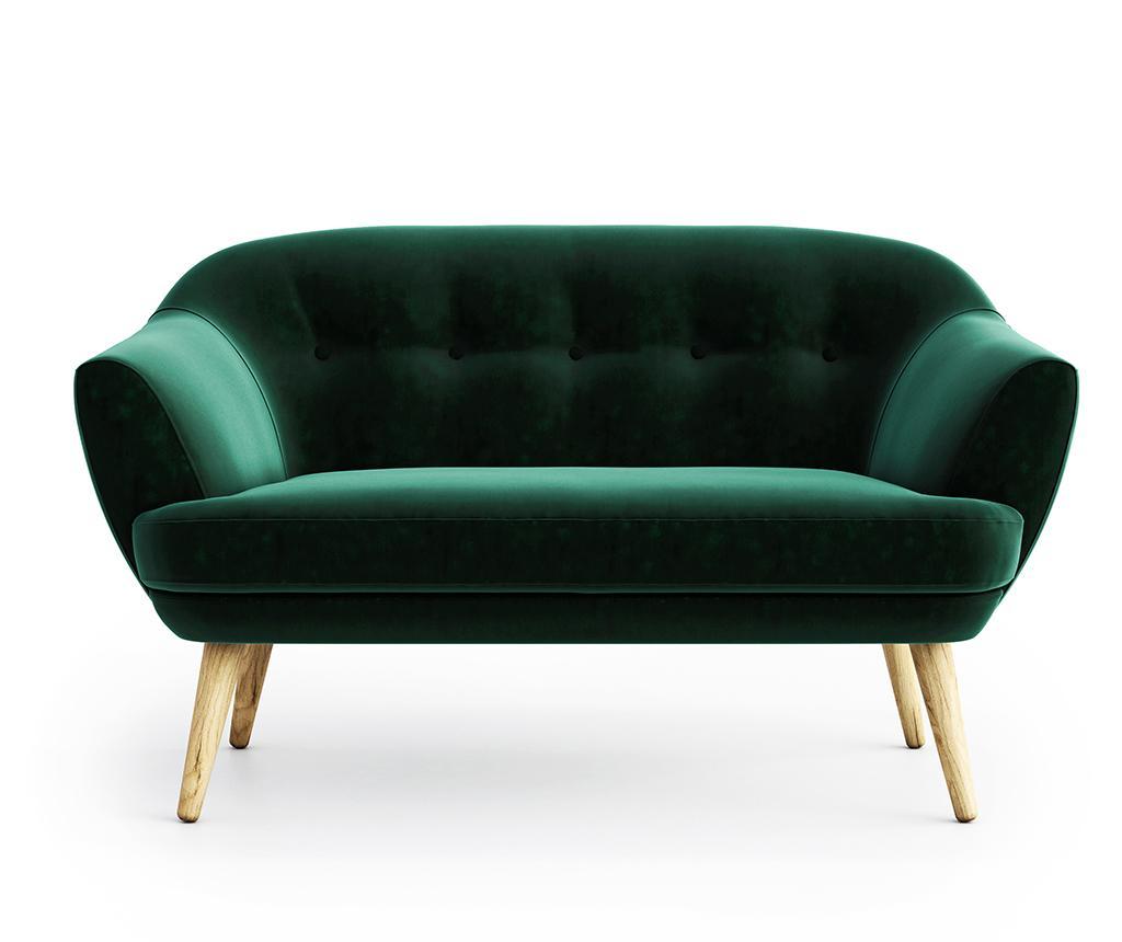 Canapea 2 locuri Elsa Riviera Dark Green - Optisofa, Verde imagine