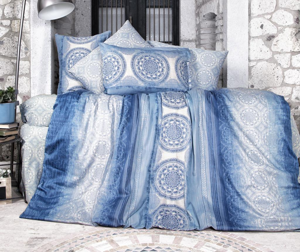 Lenjerie de pat King Satin Supreme Colorada Blue