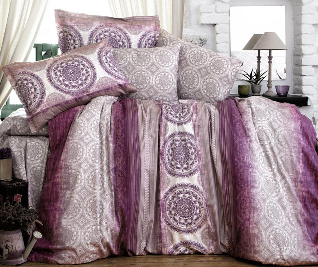 Lenjerie de pat King Satin Supreme Colorada Purple