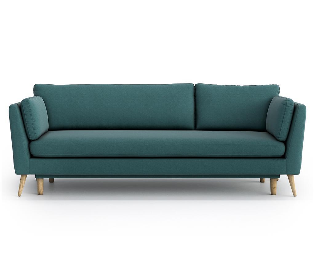 Canapea extensibila 3 locuri Jane Olaf Green - Optisofa, Verde imagine