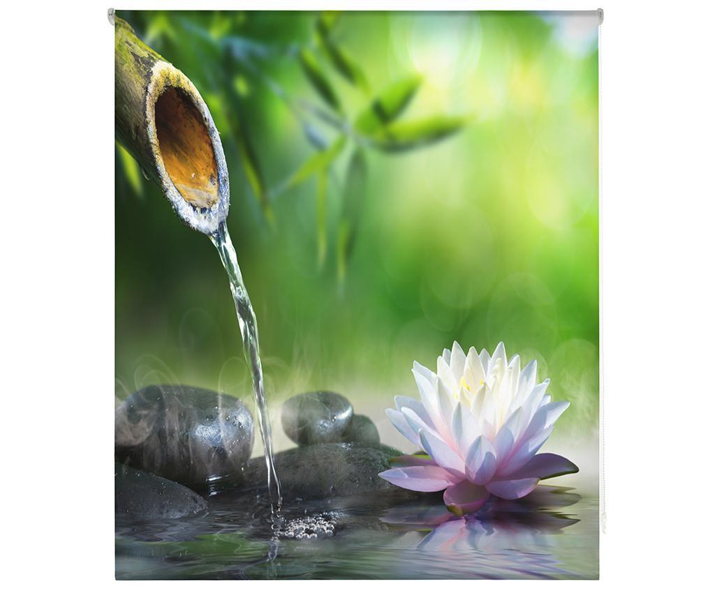 Jaluzea tip rulou Relaxation Zone 120x180 cm - Blindecor, Verde imagine