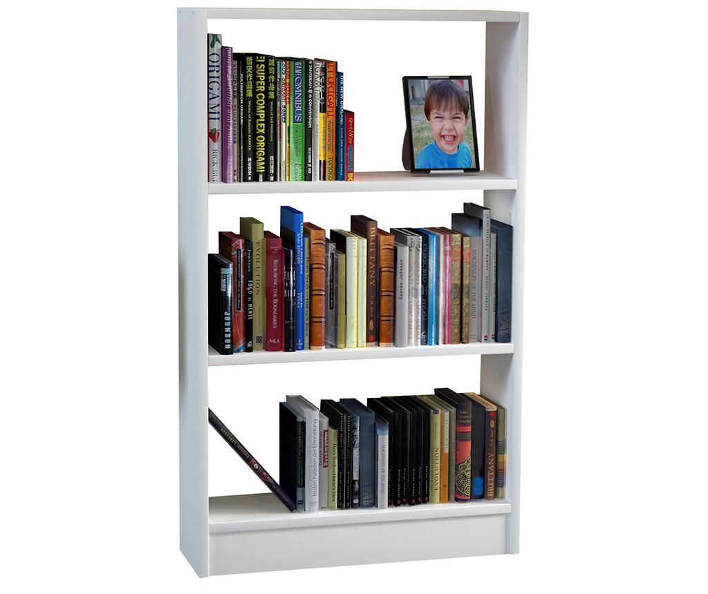 Corp biblioteca Cella White - Wooden Art, Alb imagine
