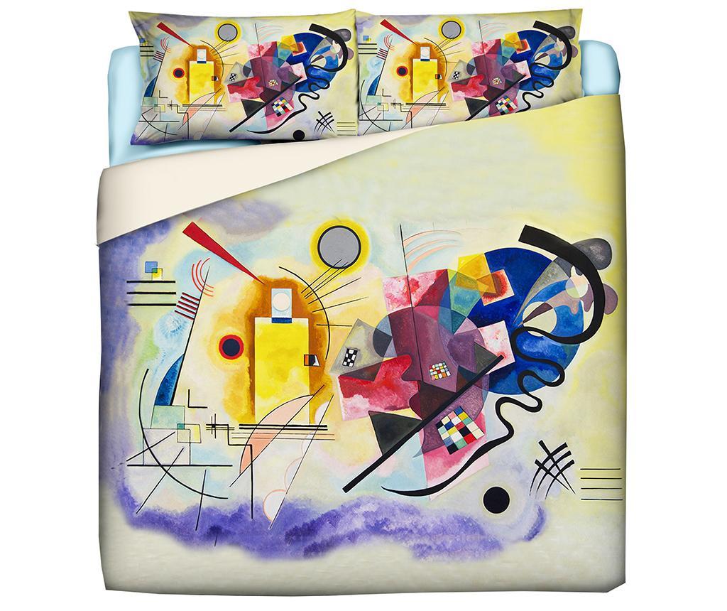 Set de pat King Ranforce Kandinsky - Polo Ovest, Multicolor imagine