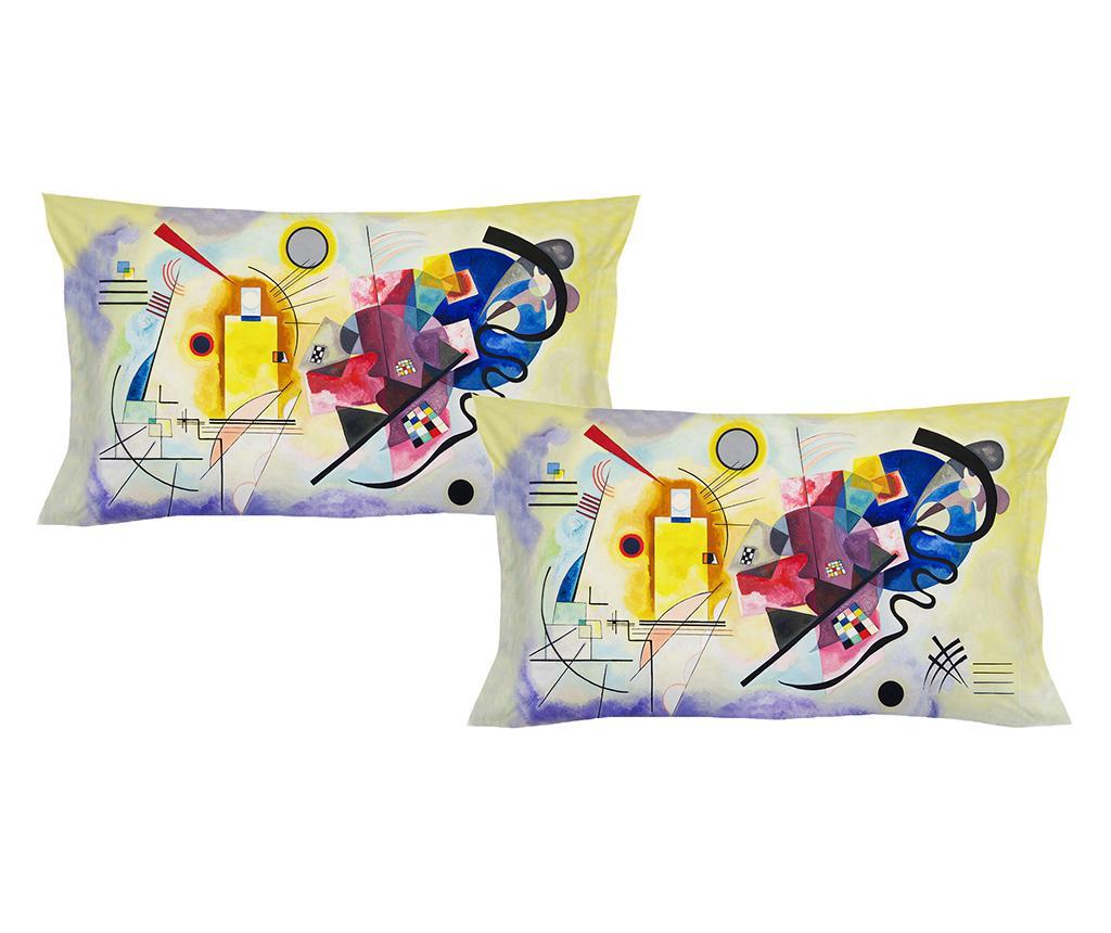 Set 2 fete de perna Kandinsky 50x80 cm - Polo Ovest, Multicolor vivre.ro