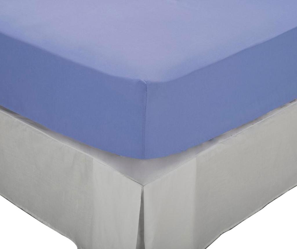 Cearsaf de pat cu elastic Laraline Light Blue 200x200 cm - Pikolin, Albastru poza