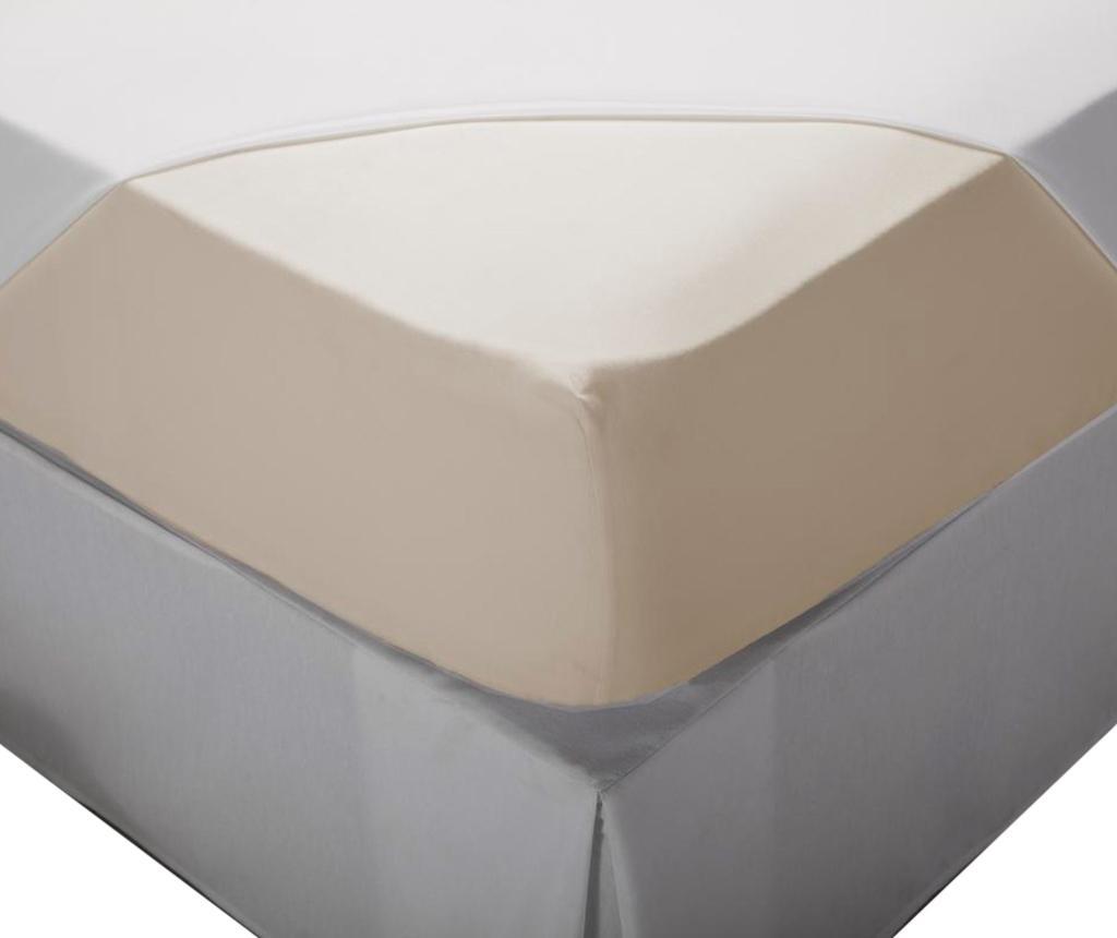Cearsaf de pat cu elastic Laraline Cream 80x200 cm imagine