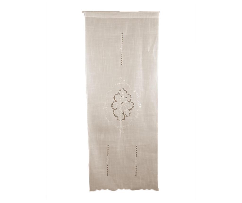 Set 2 draperii Polie 60x240 cm - Disraeli, Alb imagine