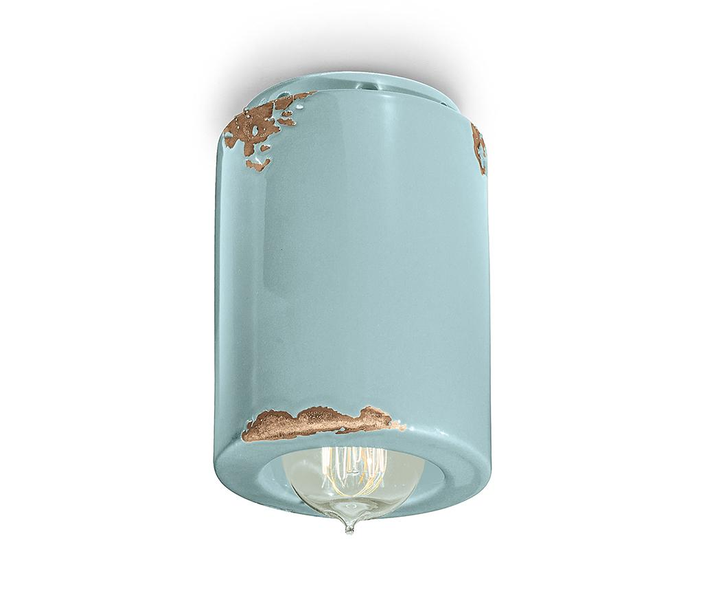 Plafoniera Vintage Cylinder Blue - Ferroluce RETRò, Albastru imagine