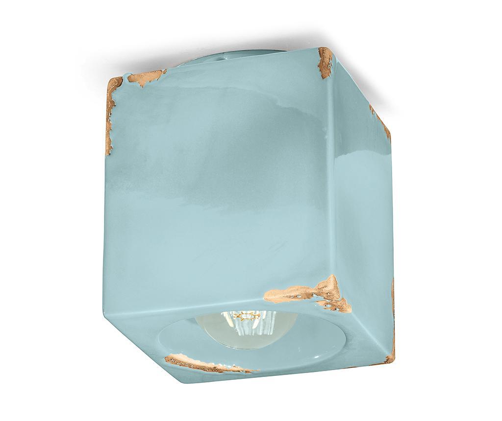 Plafoniera Vintage Cubo Blue - Ferroluce RETRò, Albastru imagine