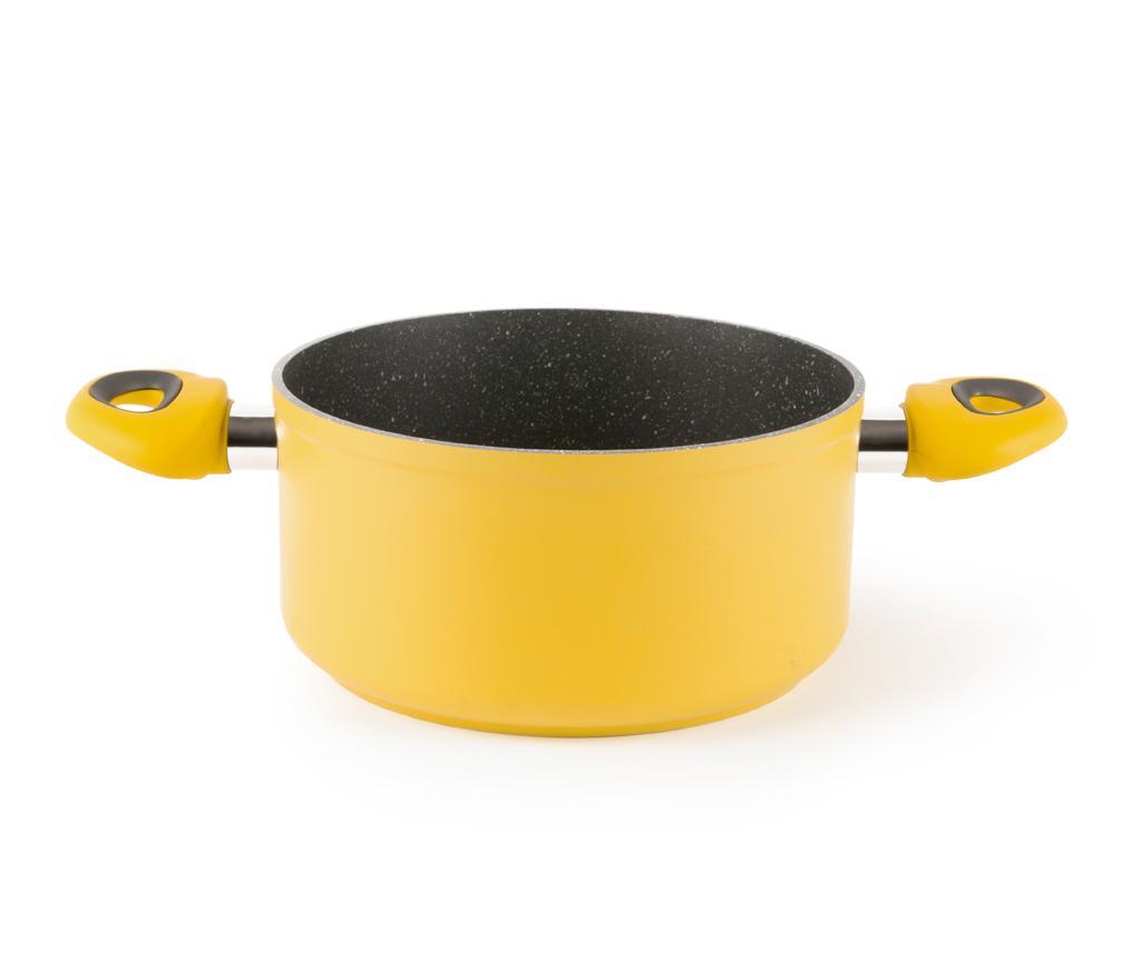 Cratita Stone Yellow 20 cm - Excelsa, Galben & Auriu poza