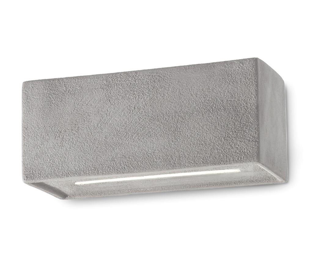 Aplica de perete Vague Vintage Cement - Ferroluce RETRò, Gri & Argintiu