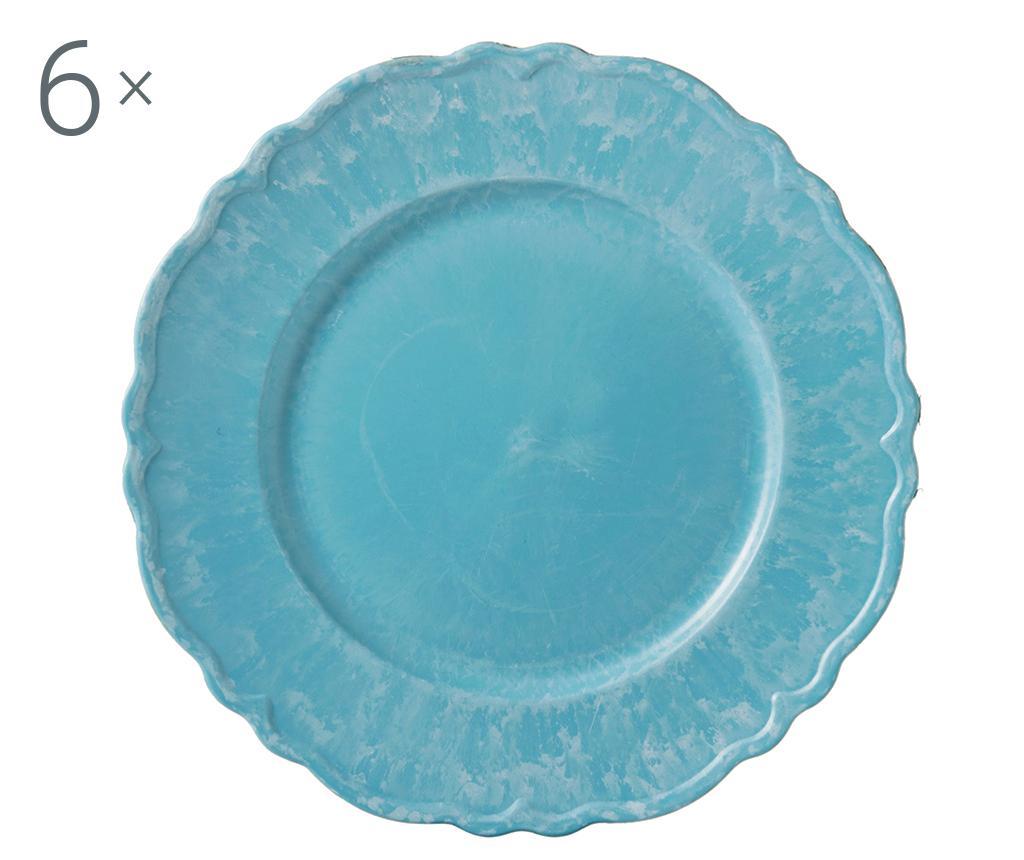Set 6 platouri Antique Simple Blue