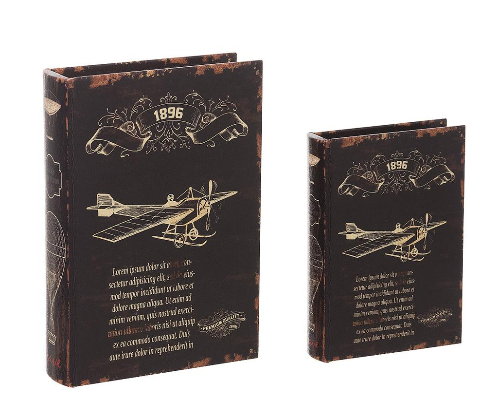 Set 2 cutii tip carte Lorem Ipsum imagine