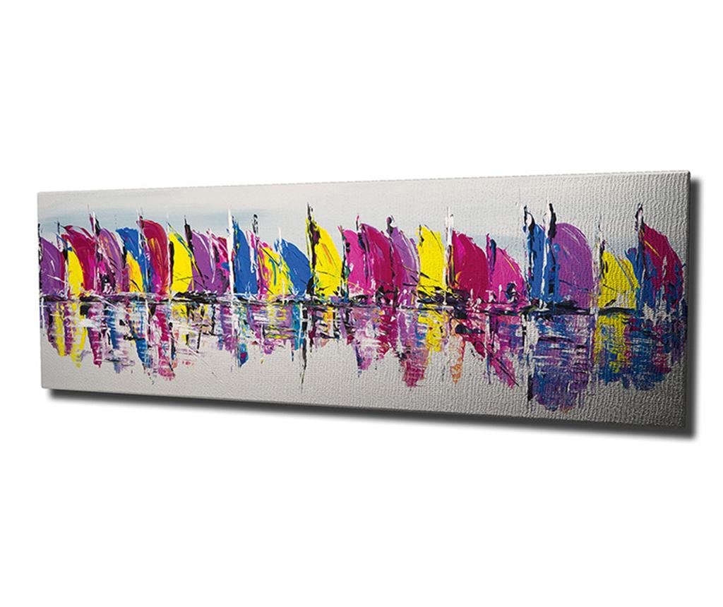 Tablou Water 30x80 cm - Symphony, Multicolor imagine