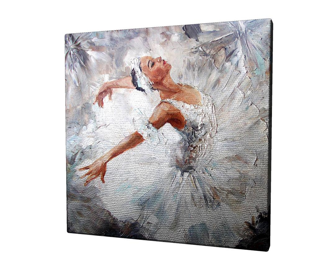 Tablou Lara 45x45 cm - Majestic, Alb imagine