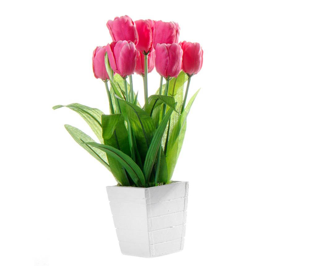 Floare artificiala in ghiveci Tulip Pink