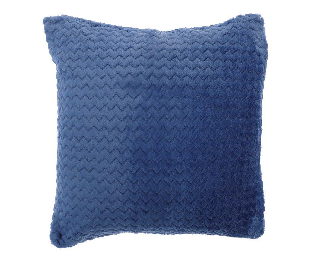 Perna decorativa Chevron Fleece Blue 55x55 cm