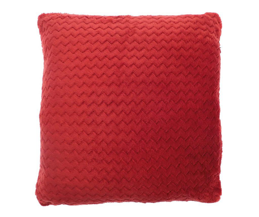 Perna decorativa Chevron Fleece Red 55x55 cm