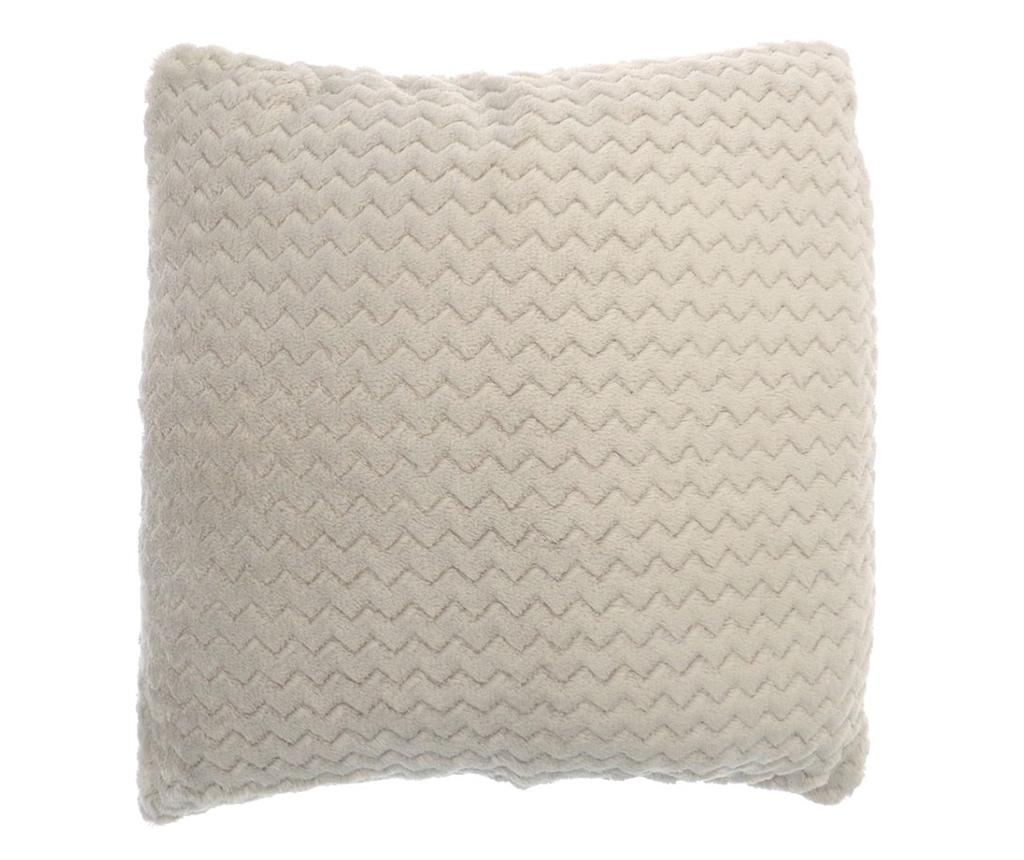 Perna decorativa Chevron Fleece Cream 43x43 cm