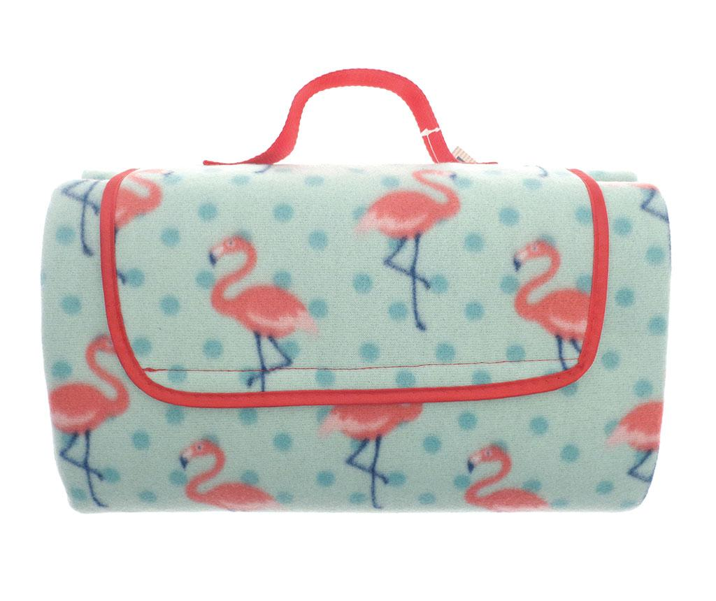 Patura pentru picnic Flamingo 130x150 cm