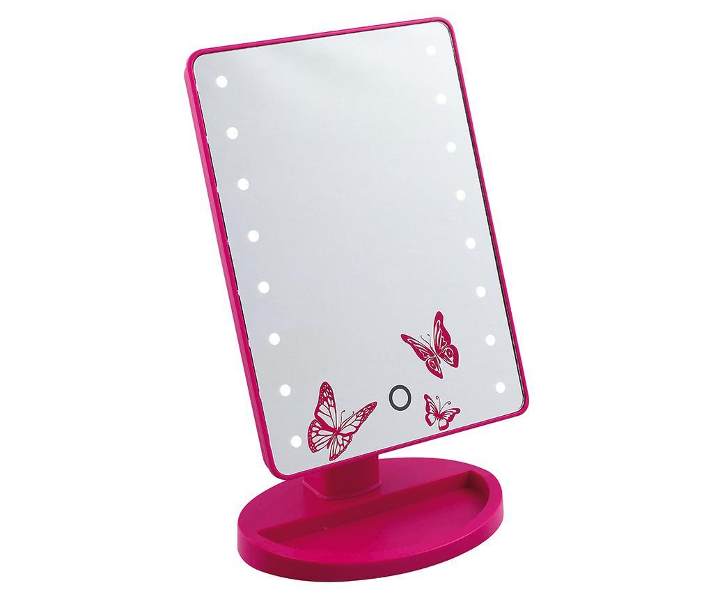 Oglinda cosmetica cu LED Butterflies imagine