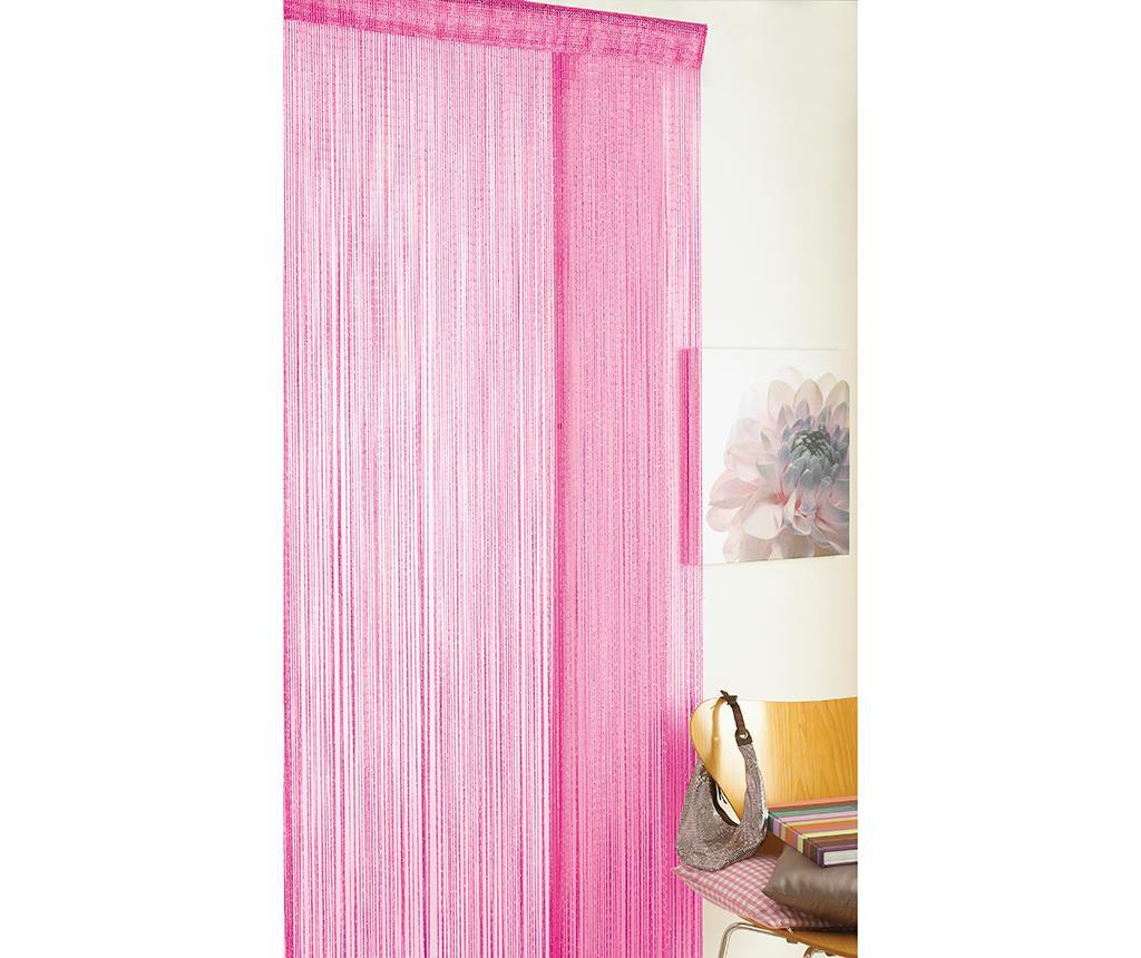 Perdea de usa Glitter Pink 90x200 cm
