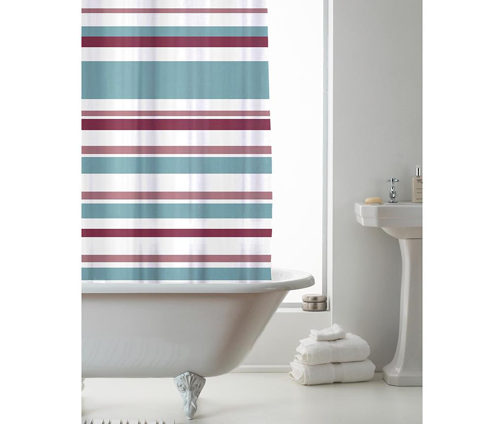 Perdea de dus Ace Stripes Powdered Teal 180x180 cm