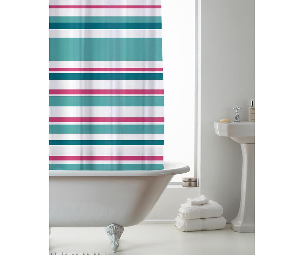 Perdea de dus Ace Striped Pink Teal 180x180 cm