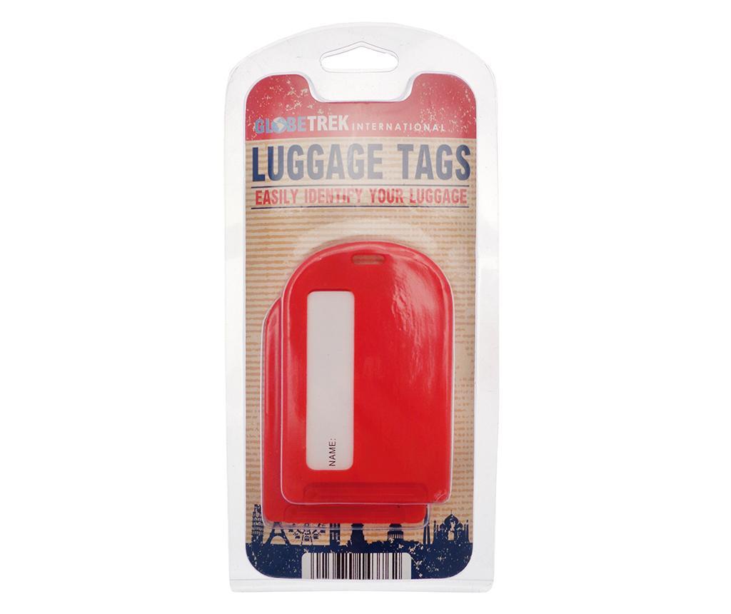 Set 2 etichete pentru bagaj Leda Red