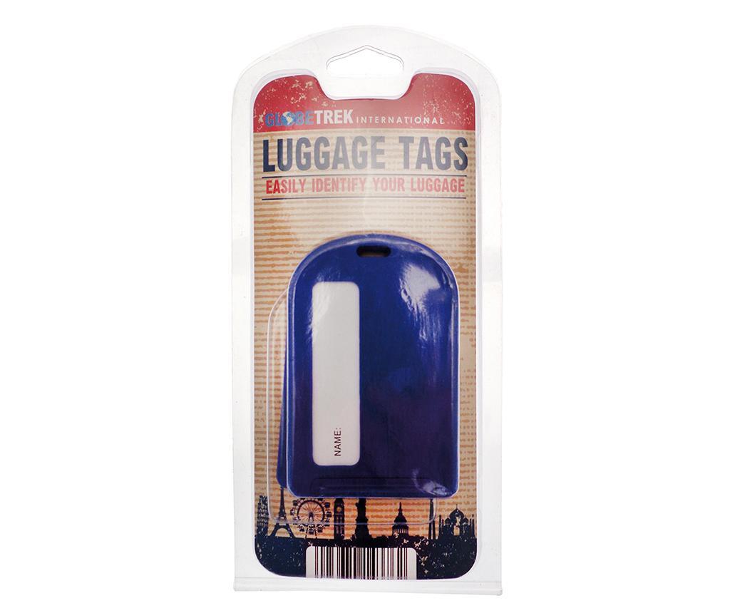 Set 2 etichete pentru bagaj Leda Blue