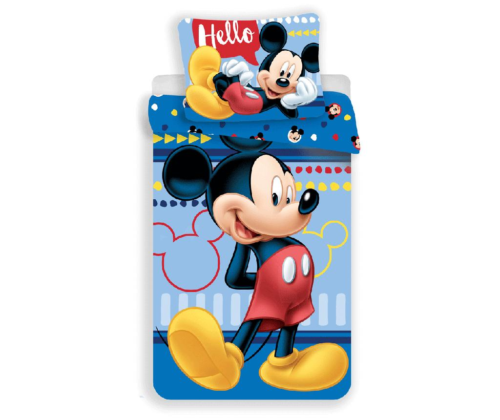 Set de pat Single Ranforce Mickey Mouse - Mickey Mouse by Disney, Albastru de la Mickey Mouse by Disney