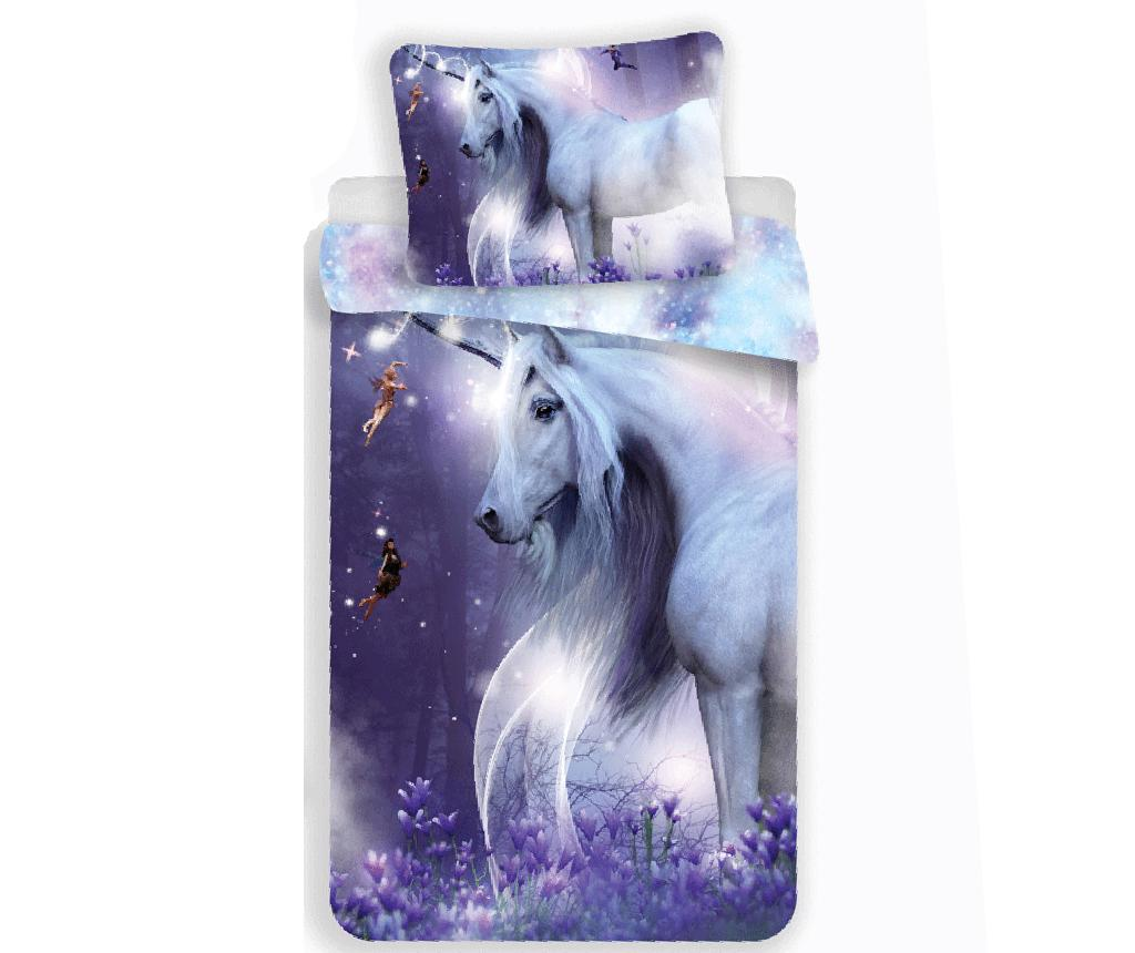 Set de pat Single Ranforce Unicorn imagine