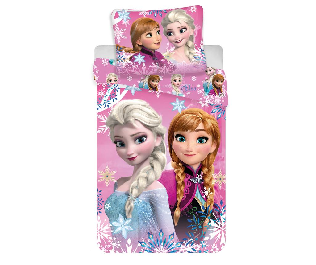Set de pat Single Ranforce Frozen Sisters