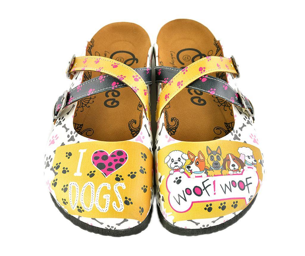 Saboti dama I Love Dogs 37 - Calceo, Multicolor