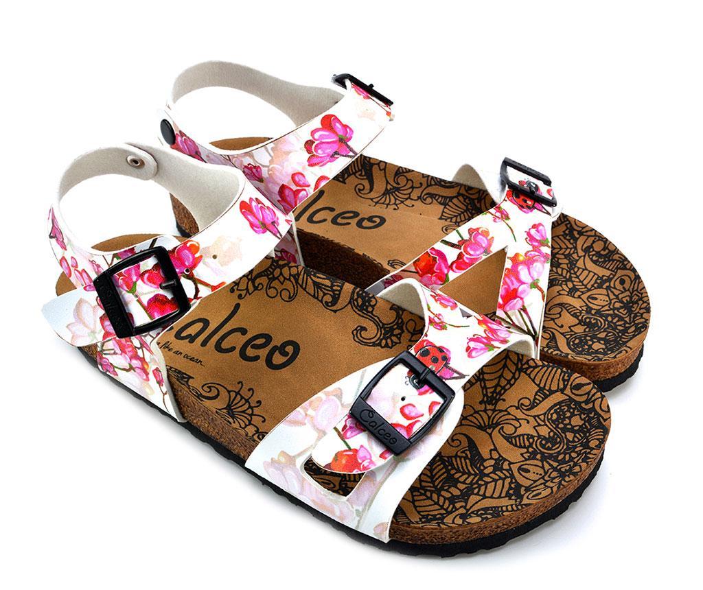 Sandale dama Odette 35 - Calceo, Alb,Roz