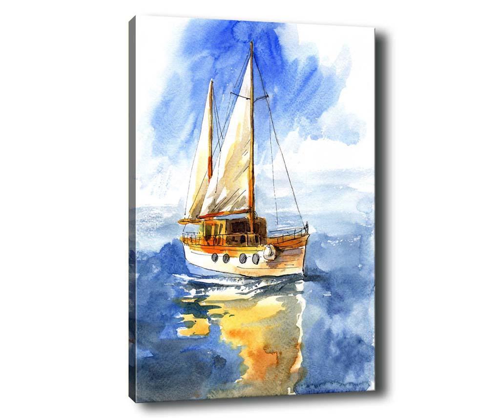Tablou Sail Boat 50x70 cm - Tablo Center, Albastru imagine