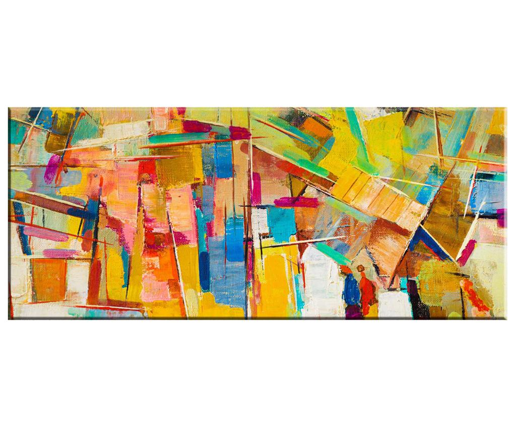 Tablou Abstract 60x140 cm - Tablo Center, Multicolor imagine