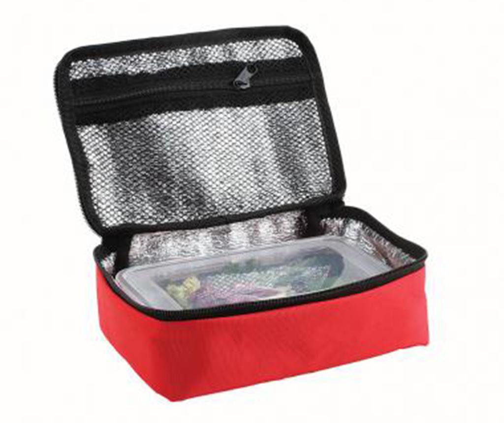 Set geanta izoterma si caserola Nomad Red