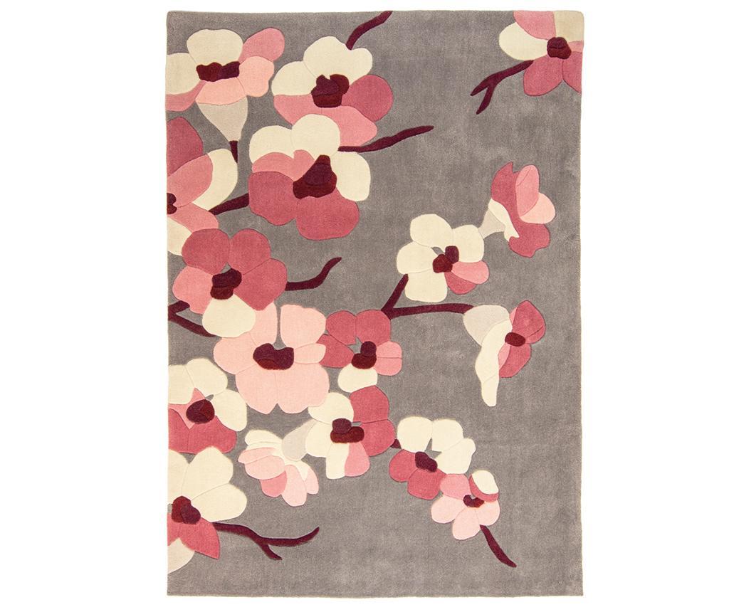 Covor Blossom Charcoal Pink 160x230 cm - Flair Rugs, Gri & Argintiu,Roz