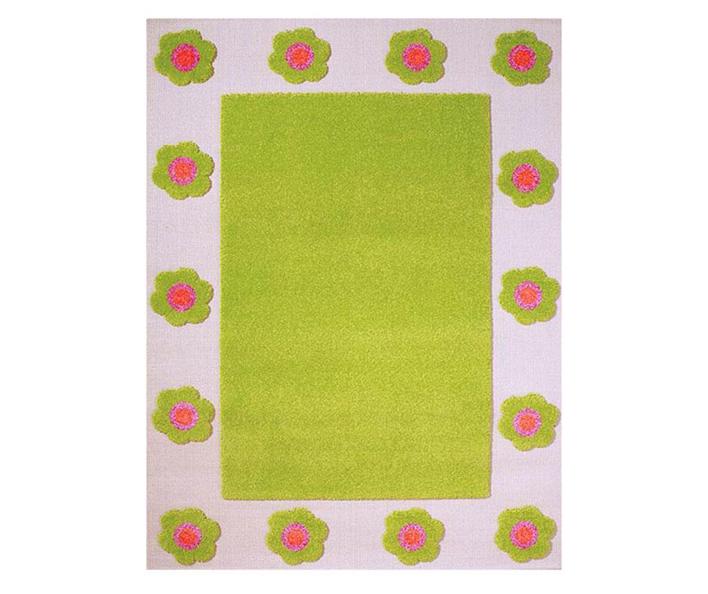 Covor Mina Border 3D Green 134x180 cm - Ivi, Verde imagine