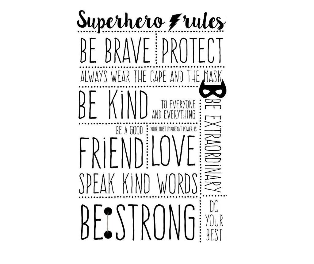 Sticker Superhero Rules imagine