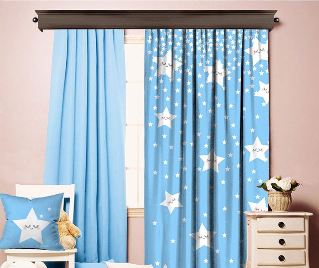 Draperie Sleeping Stars Blue 140x260 cm