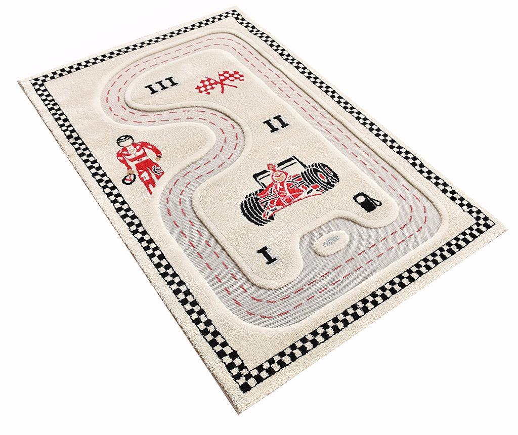 Covor de joaca Racer 3D Cream 100x150 cm vivre.ro