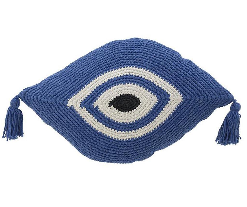 Perna decorativa Eye White Blue 30x50 cm - inart, Alb,Crem