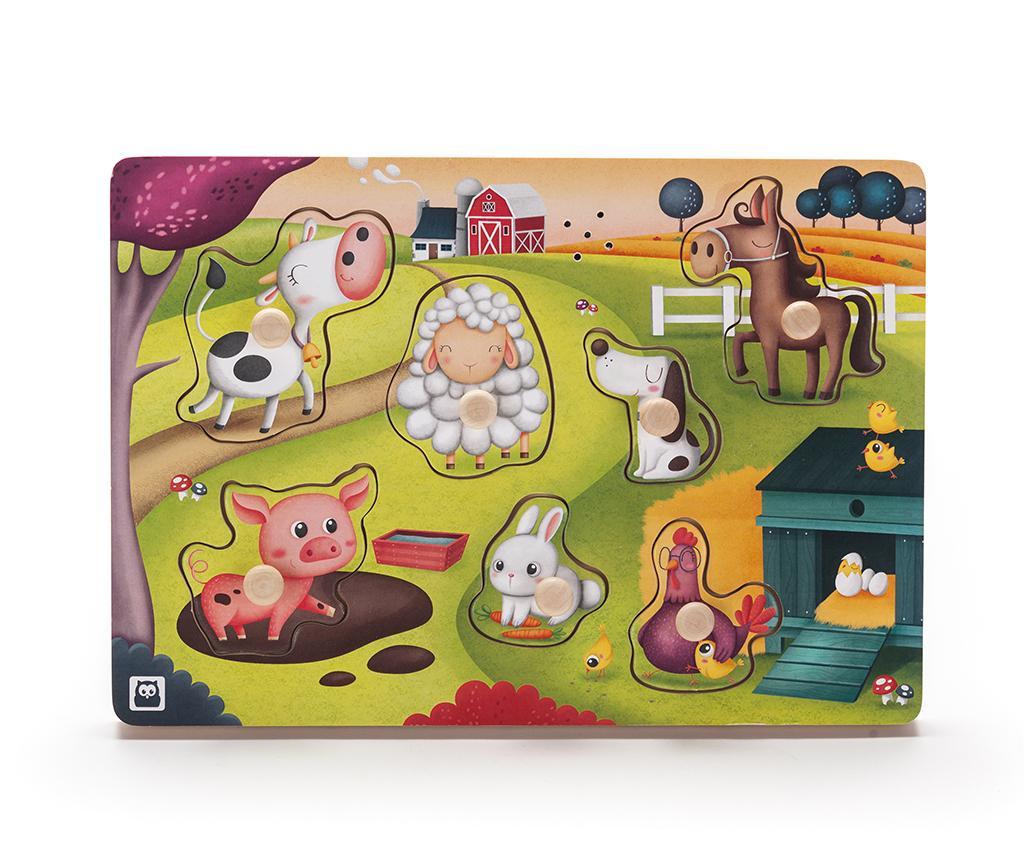 Joc muzical tip puzzle 7 piese Farm Animals